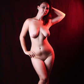 Red light by István Decsi - Nudes & Boudoir Artistic Nude ( body, low_key, red, nude, art )