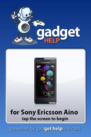 Sony Ericsson Aino Gadget Help