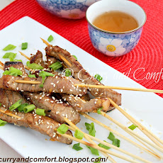 Sesame Orange Beef Skewers