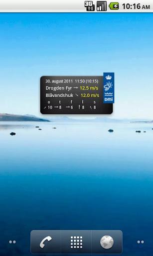 vind-sejlervejr-fra-dmi for android screenshot