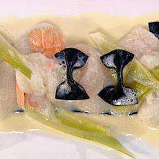 Poached Squid And Shellfish With Fennel Puree