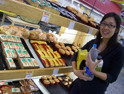 Haruna in bakery section at Soriana