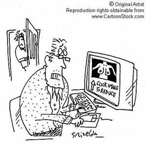 cartoon internet surfing