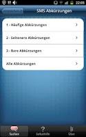Screenshot of SMS Zeichen & Abkürzungen Pro