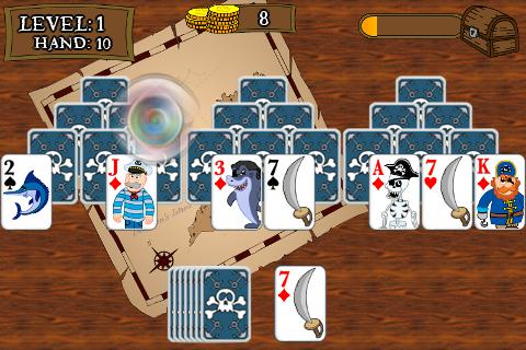 pirate-tripeaks-solitaire for android screenshot