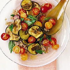Bulgur Wheat Salad with Tomato and Eggplant