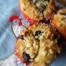 Warm Blueberry and Almond Muffins