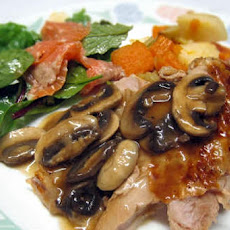 Brown Sugar-Cured Turkey with Wild Mushroom-Shallot Gravy