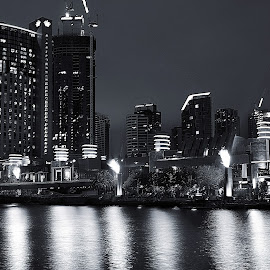 Crown Casino Melbourne by Nilam Deo - City,  Street & Park  Skylines ( night photography, melbourne, southbank, night, casino, crown casino )
