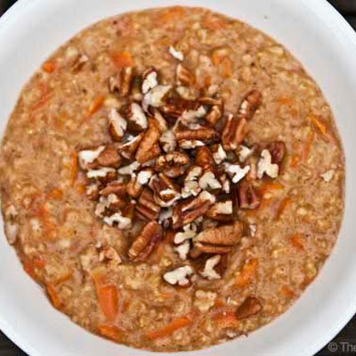 Clean Eating Carrot Cake Oatmeal