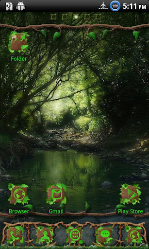 wild-wood-go-launcher-ex-theme for android screenshot