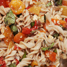 Roasted Veggie Pasta Salad with a Balsamic Vinaigrette
