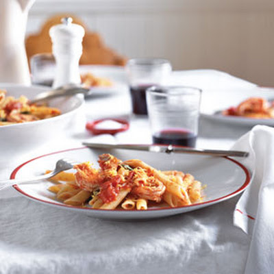 Pasta Pomodoro with Shrimp and Lemon Zest