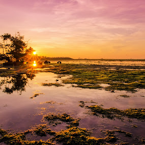The Twin Sunrises by Ade Yuda - Landscapes Sunsets & Sunrises ( nature, beach, sunrise )