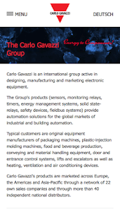 Carlo Gavazzi Group - screenshot