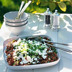 Camargue Red Rice Salad with Feta Cheese