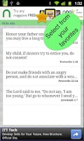 Screenshot of Youth Bible Verses & widget