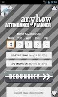 Screenshot of Anyhow Attendance Planner