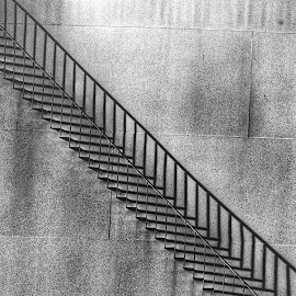 shadow stairs  by Robert Perkins - Abstract Patterns ( abstract, stairs, black and white, d90, nikon )