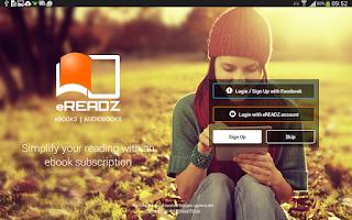 Screenshot of eREADZ