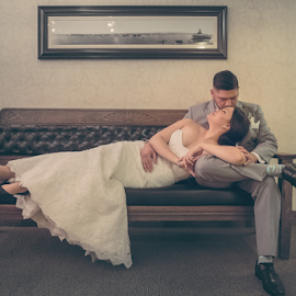 J and C by Jay Andrino - Wedding Bride & Groom ( love, lightzone photography, vintage, los_angeles, weddings, art, bride  and groom )