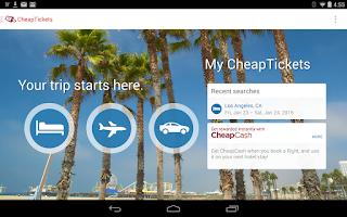 Screenshot of CheapTickets - Cheap is good.