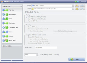 DVDFab HD Decrypter - Full disc rip settings