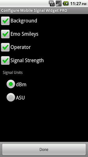 Mobile Signal Widget PRO