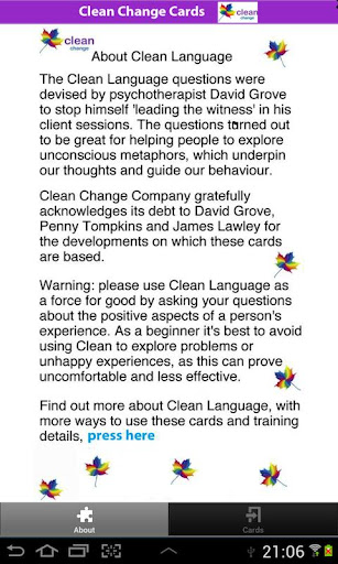 Clean Change Cards - NLP