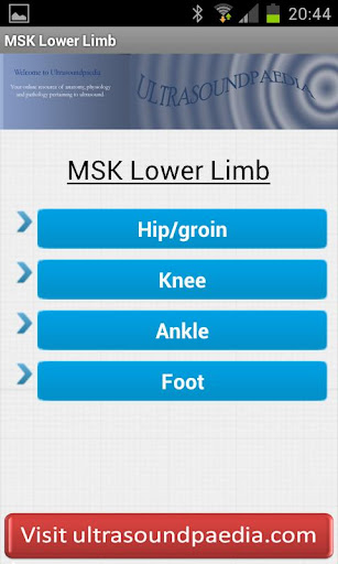 MSK ultrasound Lower Limb