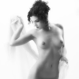by John Gross - Nudes & Boudoir Artistic Nude ( nude, figure study, black and white, artistic, barbara )