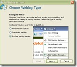 Adding Weblog Account