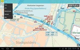 Screenshot of ANWB Waterkaarten