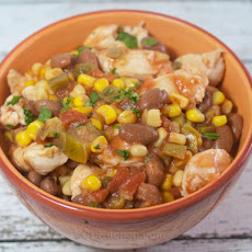 Slow Cooker Mexican Chicken and Corn Chili