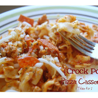 {Crock Pot} Pizza Casserole