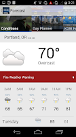 Screenshot of Portland Weather from KGW.com