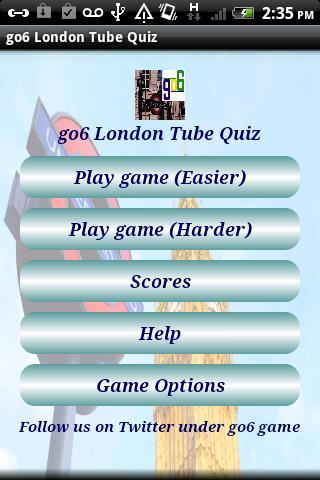 go6 London Tube Quiz