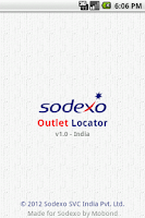 Screenshot of Sodexo Outlet Locator - India