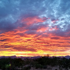 Vegas Sunset by Mike Canter - Instagram & Mobile Android ( clouds, thunderstorms, desert, sunset, vegas )