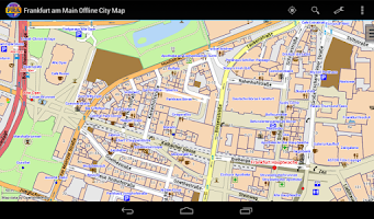 Screenshot of Frankfurt Offline City Map