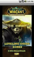 Screenshot of Wow leveling guide : zones