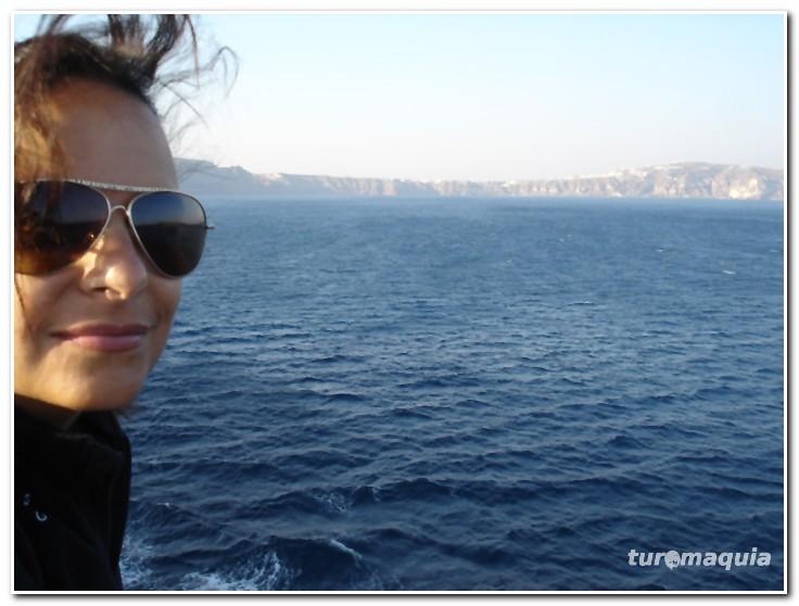 chegando a Santorini