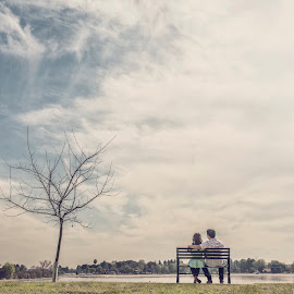 To love another person is to see the face of God by Yansen Setiawan - Wedding Other ( sitting on bench, creative, art, losangeles, illusion, love, yansensetiawanphotography, fineart, prewedding, d800, wedding, lifestyle, la, photographer, yansensetiawan, nikon, yansen, engagement, public, bench, furniture, object )
