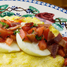 Poached Eggs with Polenta and Fresh Salsa