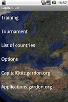 Screenshot of Capital Geo Quiz