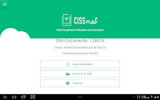 Screenshot of CISSMob Venda Assistida