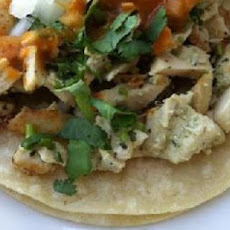 Chicken Soft Tacos With Sauteed Onions and Apples