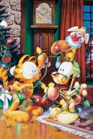【免費個人化App】Garfield Holiday Tree Live WP-APP點子