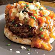 Knife-and-Fork Burgers with Stewed-Vegetable Gravy