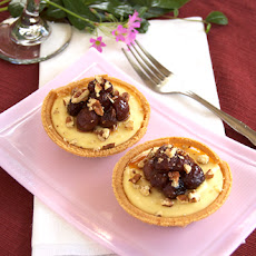Goat Cheese Sweet Potato Cheesecakes w/ Roasted Grapes